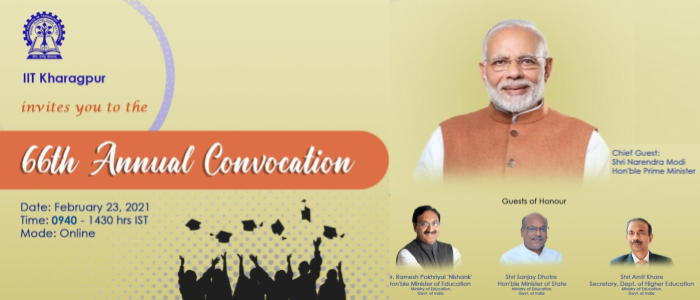 PM Modi to address 66th Convocation of IIT, Kharagpur in virtual mode tomorrow