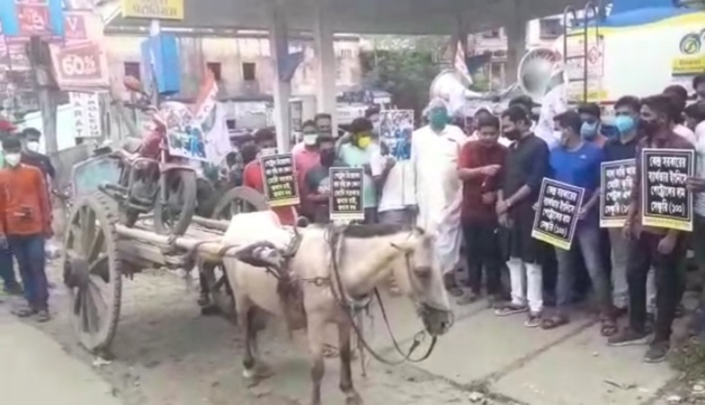 TMCP hold protest against fuel price hike in Krishnagar