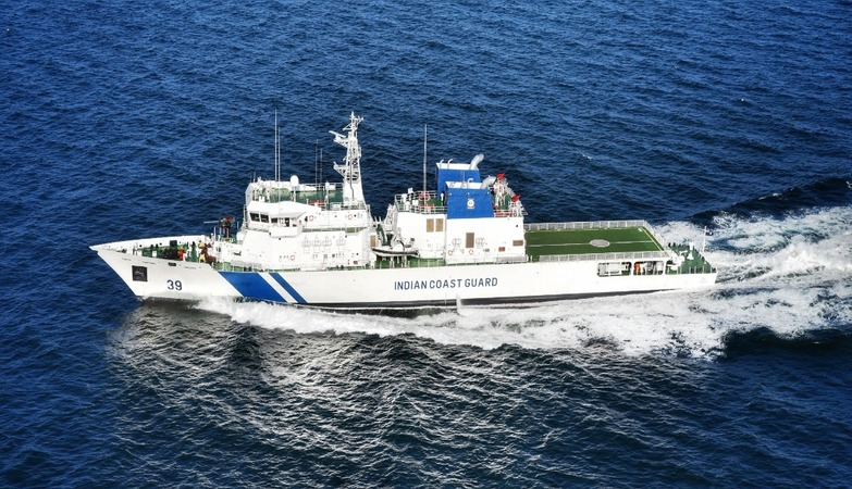 Defence Minister Rajnath Singh dedicates Vigraha to Nation, an Indigenously built Indian Coast Guard Ship