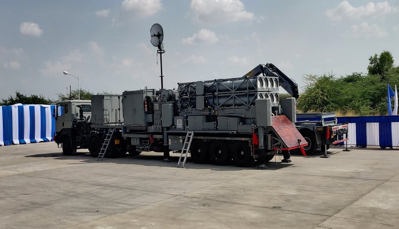 DRDO hands over air defence missile (MRSAM) System to Indian Air Force in presence of Rajnath Singh at Jaisalmer