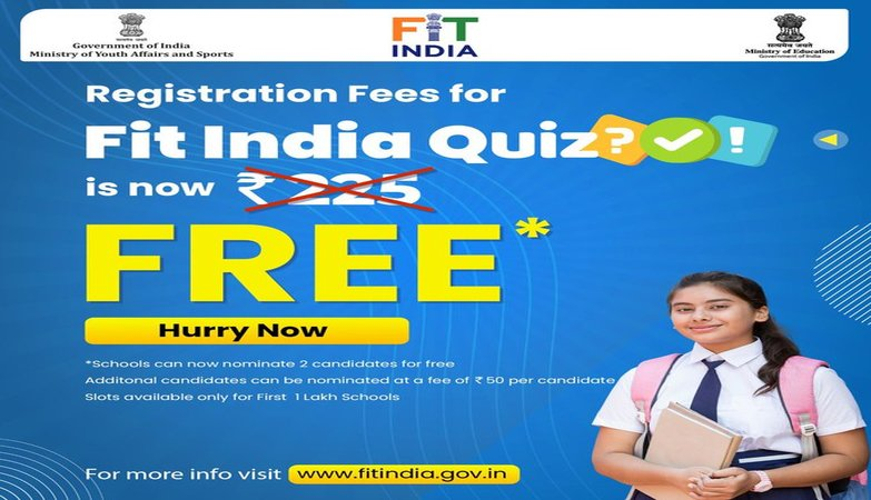 Sports Ministry announces free registration for 2 lakh school students for Fit India Quiz