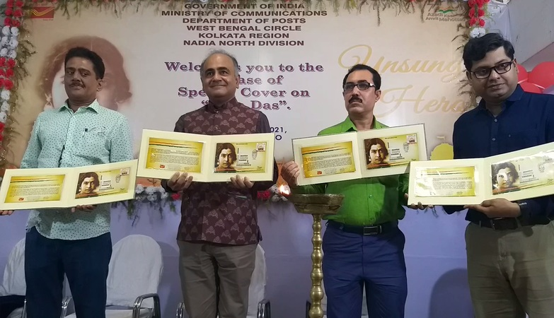 India Post releases Special Cover on freedom fighter Bina Das on Philately Day